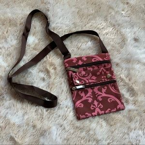 Small Crossbody Purse Pink & Brown